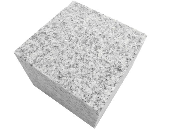 Hubei G603-granite-paving-stone-100x100x80mm-flamed-cobblestone