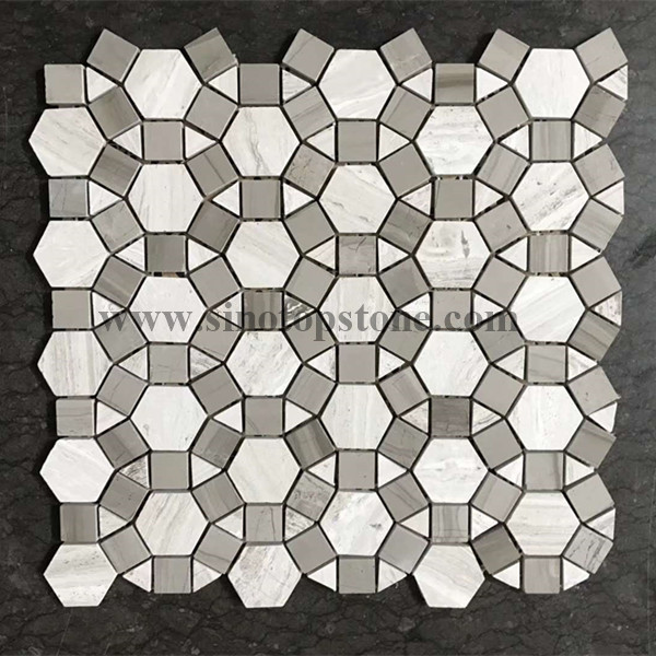 white wooden and grey wooden marble moonstone tile mosaic marble tile