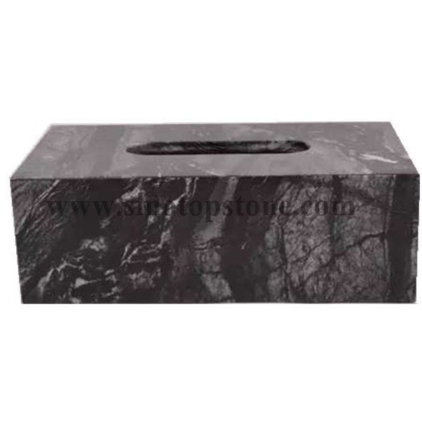 Ancient Wood Grain Marble Texture Tissue Box Holders, Decorative Tabletop Tissue Box Cover (5)