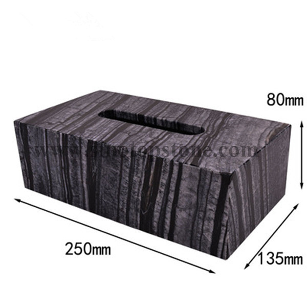 Ancient Wood Grain Marble Texture Tissue Box Holders, Decorative Tabletop Tissue Box Cover