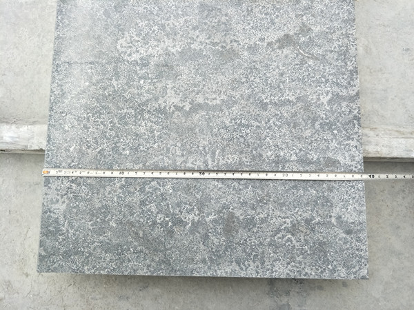 China limestone blue stone flamed paver slab