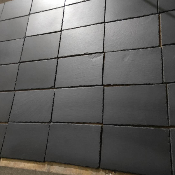 China Black blue slate paving tile 03