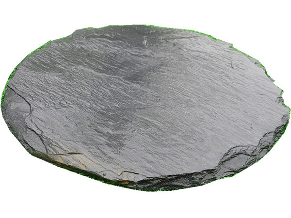 China Black slate round slate stepping stones