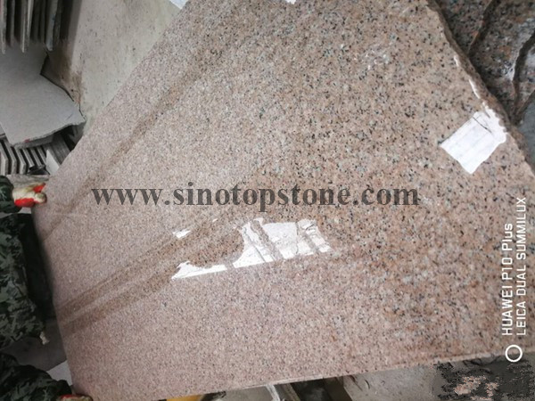 New G681-sd pink granite slab