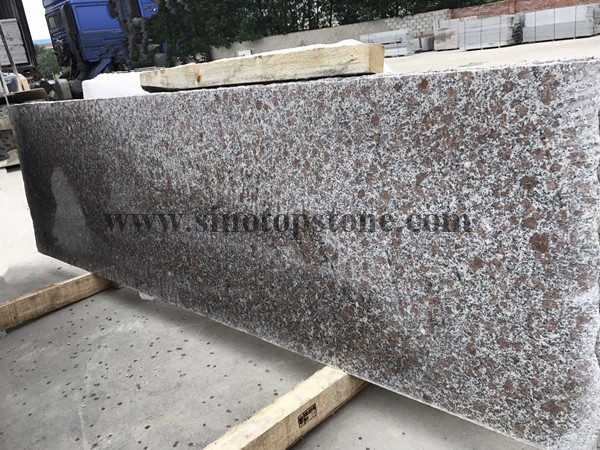 Pearl red granite slab