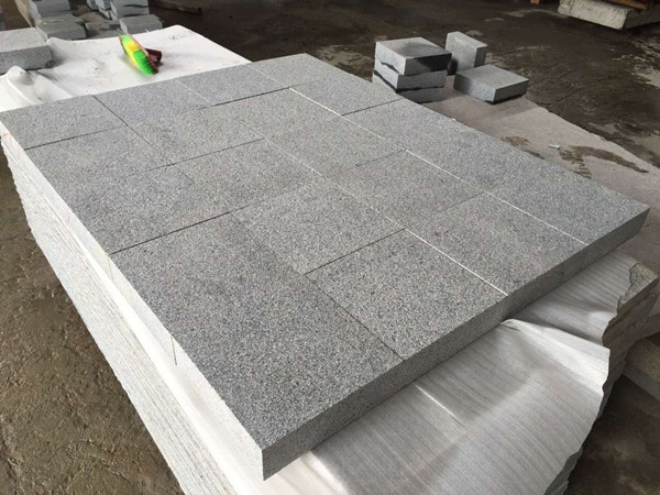 G654 flamed granite paver tile