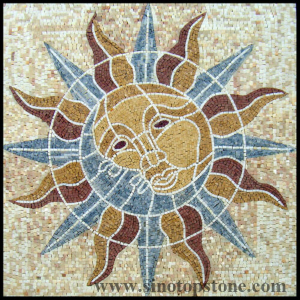 handmade square floor interior home decoration marble mosaic art tile stone