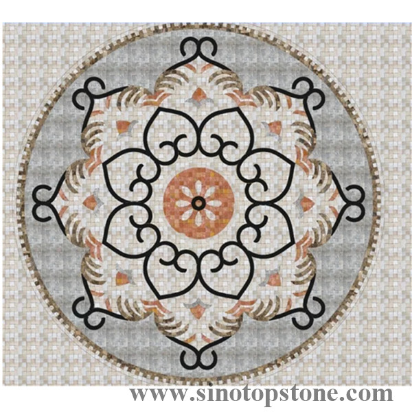 marble Mosaic Pattern Handmade Decorative Geometric wall floor Marble Mosaic Art Stone Tile (1)