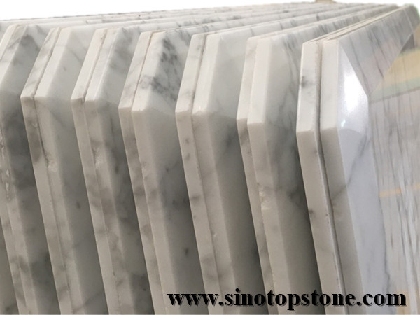 Bianco Carrara white Marble top