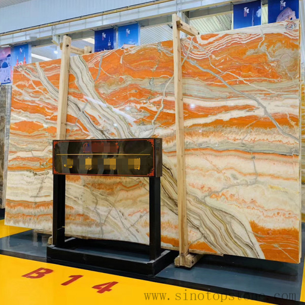 Colorful Paiting marble Onyx Slab (2)