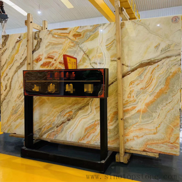 Colorful Paiting Onyx Slab (4)
