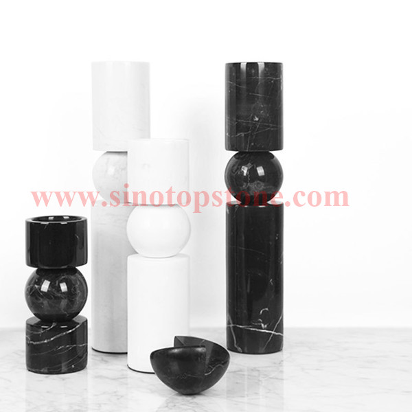 MARBLE CANDLE HOLDERS CYLINDER SHAPED STANDS TEA LIGHTS HANDICRAFTS HOME DECORATIVE GIFTS04